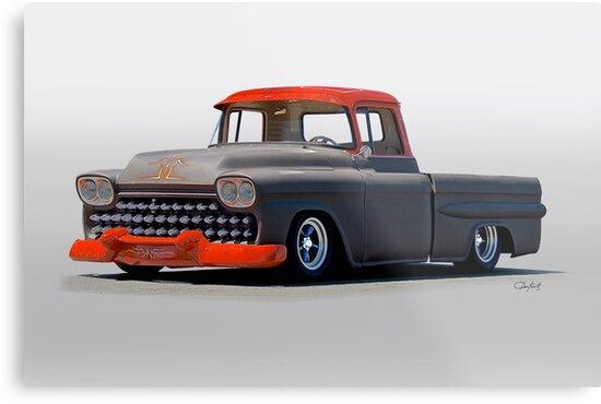 1958 Chevrolet Kustom Pickup by DaveKoontz