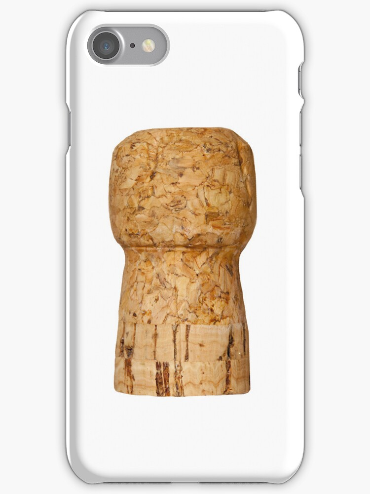 Champagne Cork on white by Lisa Kyle Young