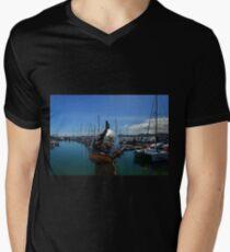 Fish out of water.....Fuerteventura Men's V-Neck T-Shirt