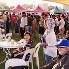 Crowd Scene Indian Festival South Perth by Andrew  Makowiecki