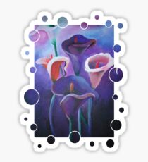 Purple Calla Flowers Sticker
