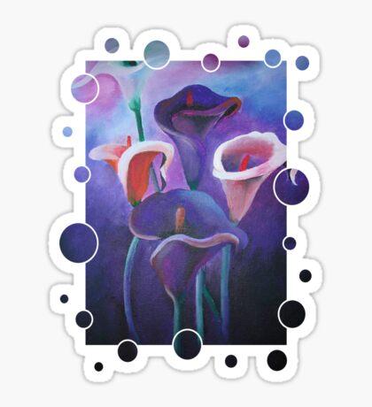 Purple Calla Flowers Sticker