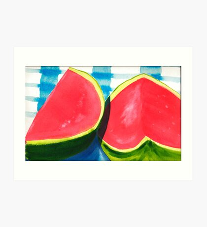 Watermelon Daze Art Print