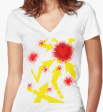 Hearth Women's Fitted V-Neck T-Shirt