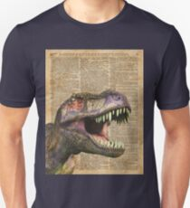 T-rex,tyrannosaurus,dinosaur Vintage Dictionary Art Unisex T-Shirt