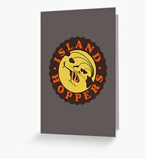 Island Hoppers /brown Greeting Card