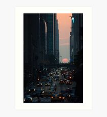 Manhattanhenge 2011 Art Print