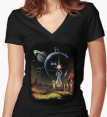 Multiverse Wars Women's Fitted V-Neck T-Shirt