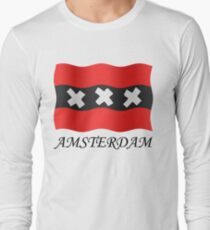 Amsterdam vlag Long Sleeve T-Shirt