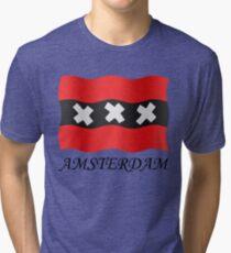 Amsterdam vlag Tri-blend T-Shirt
