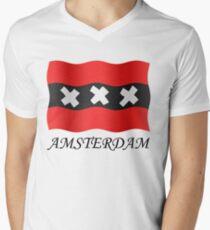 Amsterdam vlag Men's V-Neck T-Shirt