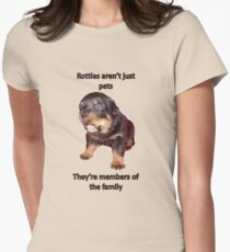 Rottweilers Are Not Just Pets Women's Fitted T-Shirt