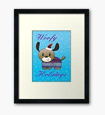 Woofy Holidays Framed Print