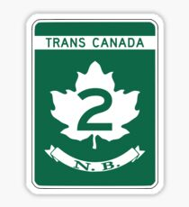 New Brunswick, Trans-Canada Highway Sign Sticker