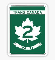 New Brunswick, Trans-Canada Highway Sign Sticker