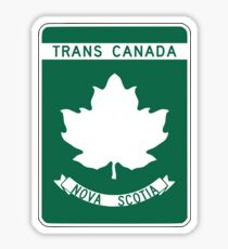 Nova Scotia, Trans-Canada Highway Sign Sticker