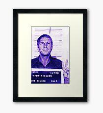 Mugshot Collection - Steve mcQueen Framed Print