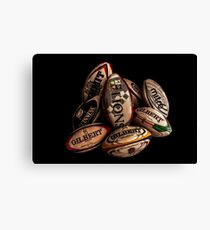 Rugby Balls Canvas Print