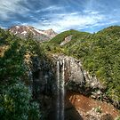 Waterfall - New Zealand by Laurence Norah