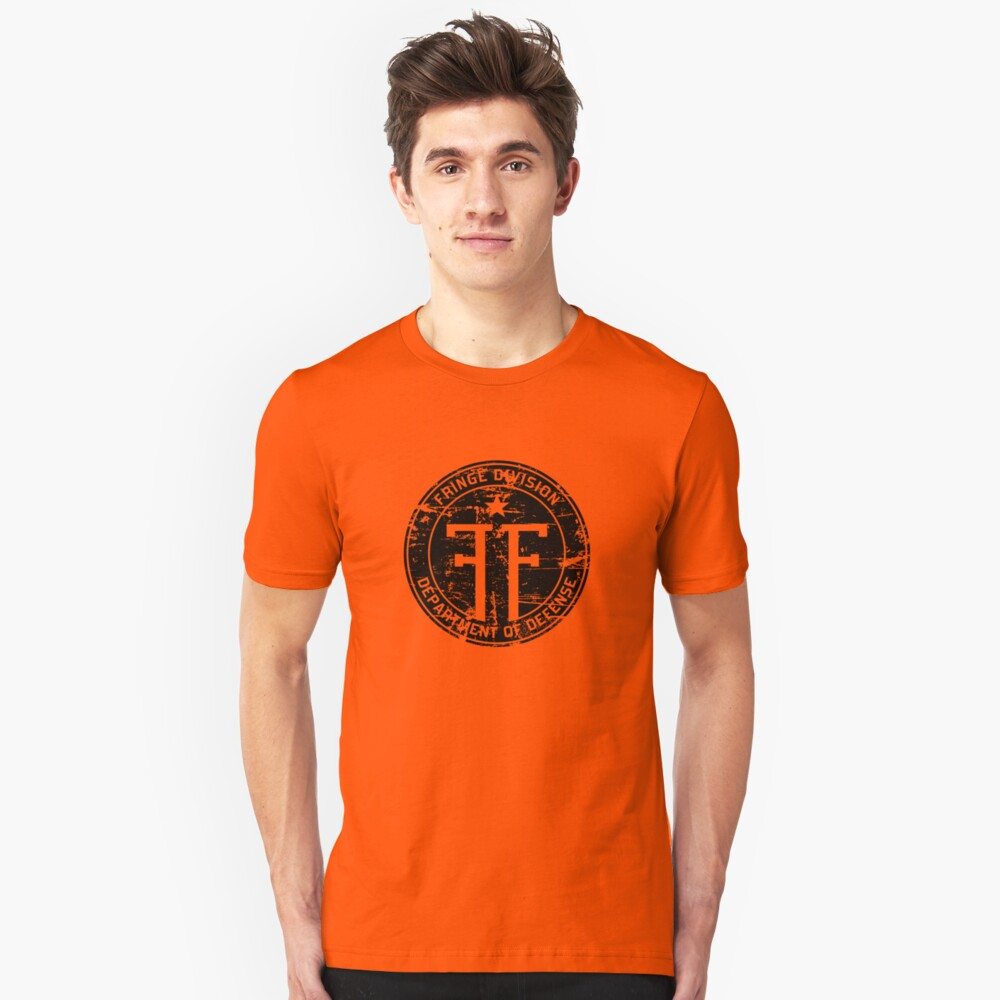 Fringe Division (dark print and stickers) Unisex T-Shirt Front