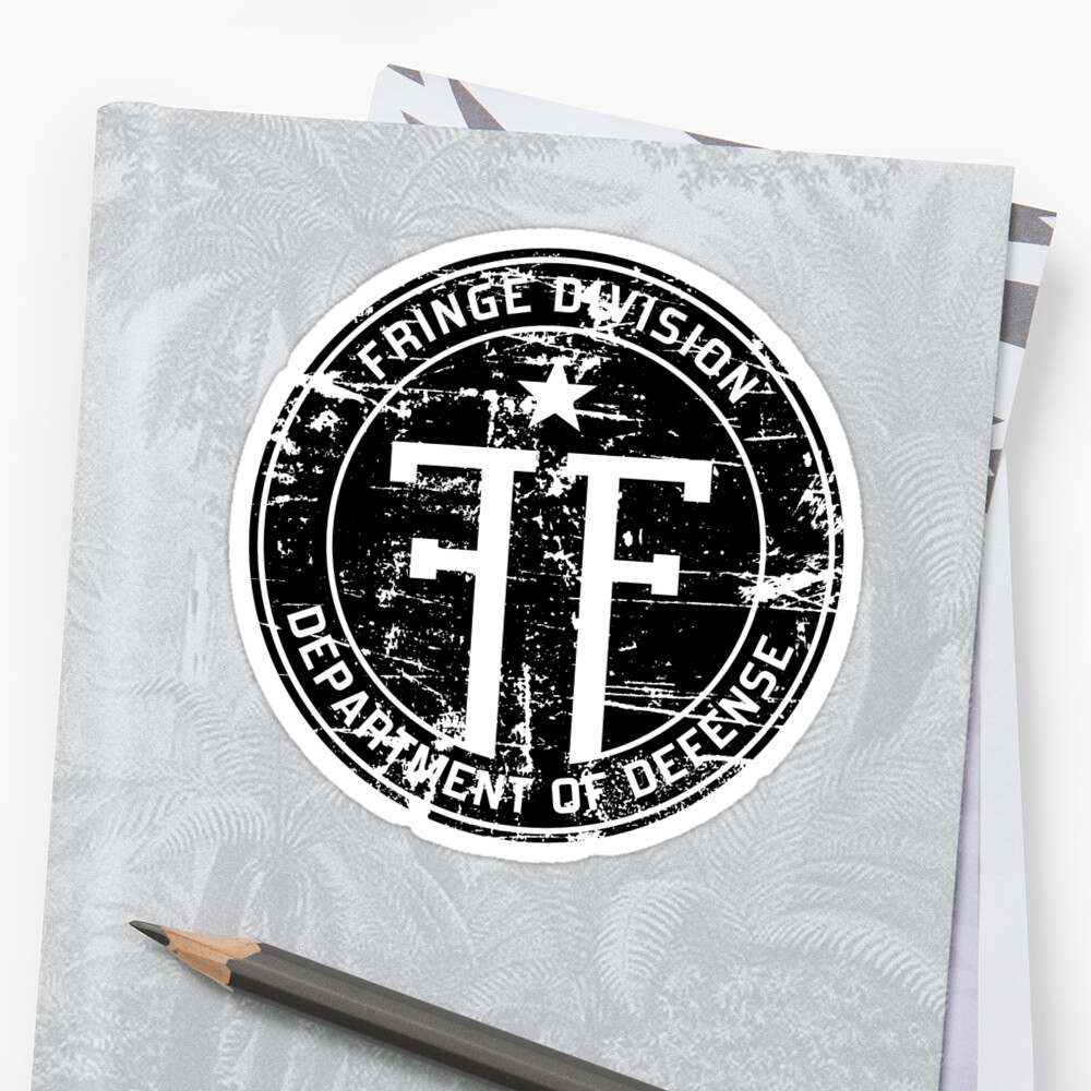 Fringe Division (dark print and stickers) by synaptyx