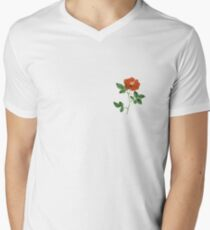 Vintage Red Rose Isolated on White T-Shirt