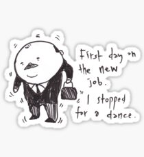 Charles the business man Sticker