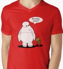 Wooden Baby Mens V-Neck T-Shirt