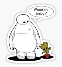 Wooden Baby Sticker
