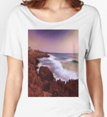Colorful Coastal Waves Women's Relaxed Fit T-Shirt