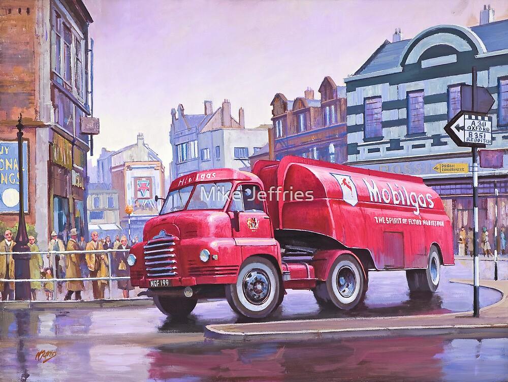 "Mobil Gas Card >> ""Mobilgas petrol tanker."" by Mike Jeffries | Redbubble"