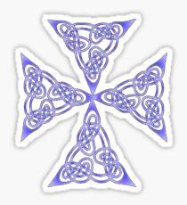 Lindisfarne St Johns Knot Tattoo In Lilac Sticker