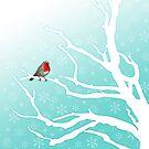 Robin in a tree by JayZ99