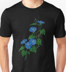 Victorian Style Blue Bindweed Wildflower  Unisex T-Shirt