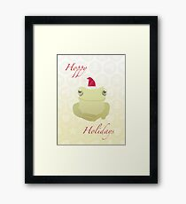 Hoppy Holidays Framed Print