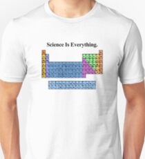 Science Is Everything (Grunge Periodic Table) Unisex T-Shirt