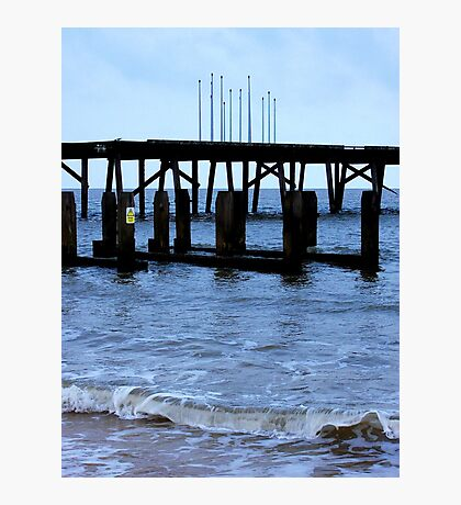 By The Pier! Photographic Print