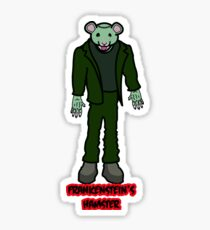 Frankenstein's Hamster Sticker