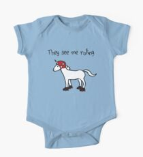 They See Me Rolling - Roller Derby Unicorn Kids Clothes