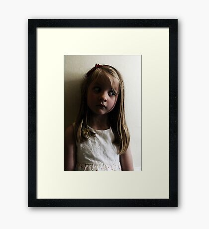 Who, Me? I Don't Know What You Mean... Framed Print