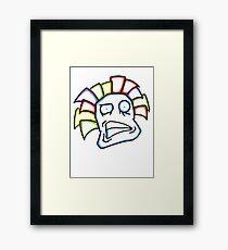 Retro Tiki Mask Smirk Framed Print