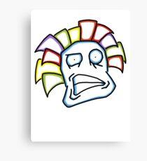 Retro Tiki Mask Smirk Canvas Print