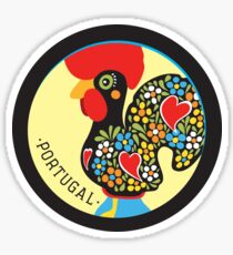 Symbols of Portugal - Rooster Sticker