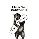 Vintage I Love You California by iEric