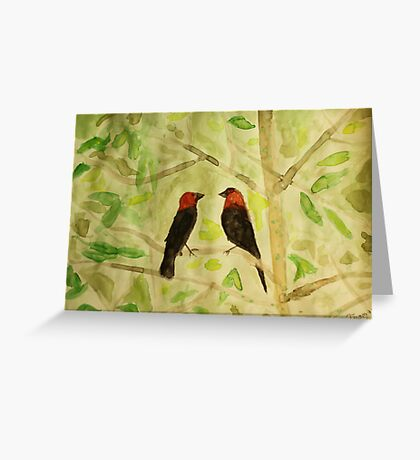 Brown Headed Cowbirds Greeting Card
