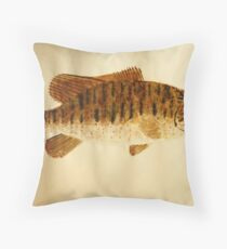Smallmouth Bass Throw Pillow