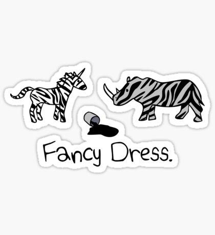 Unicorn & Rhino - Zebra Fancy Dress Sticker