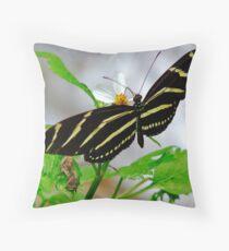 Zebra Longwing. Throw Pillow