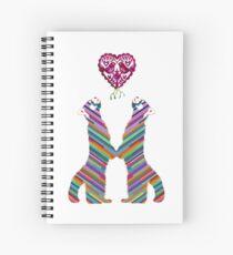 Festive red panda ♥ Spiral Notebook