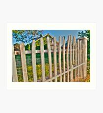 Weathered Fence Art Print